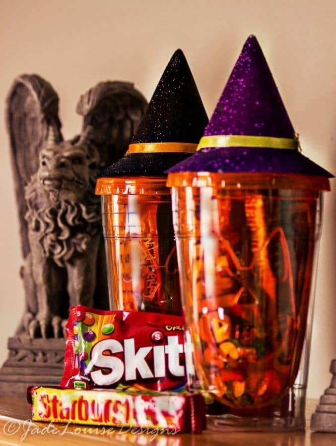 Halloween Crafts, Easy DIY Halloween candy Feeder dish
