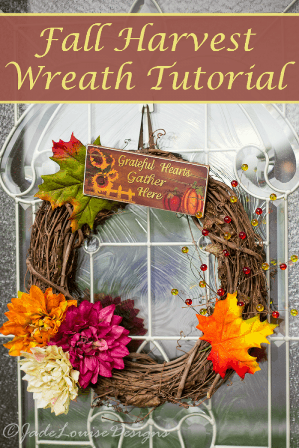Fall Wreath tutorial; How to make a simple Harvest Wreath