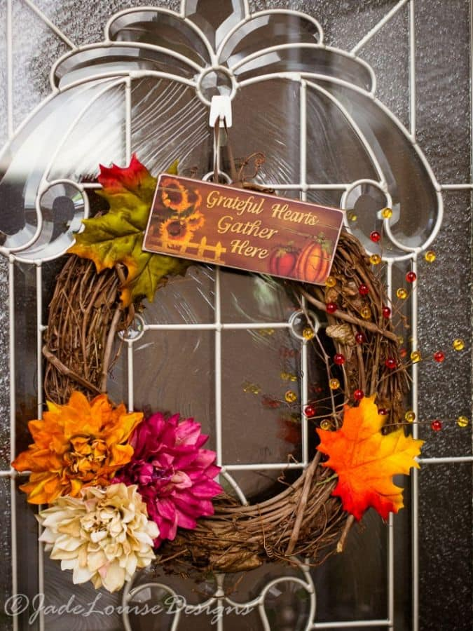 Fall Wreath tutorial; How to make a simple Harvest Wreath