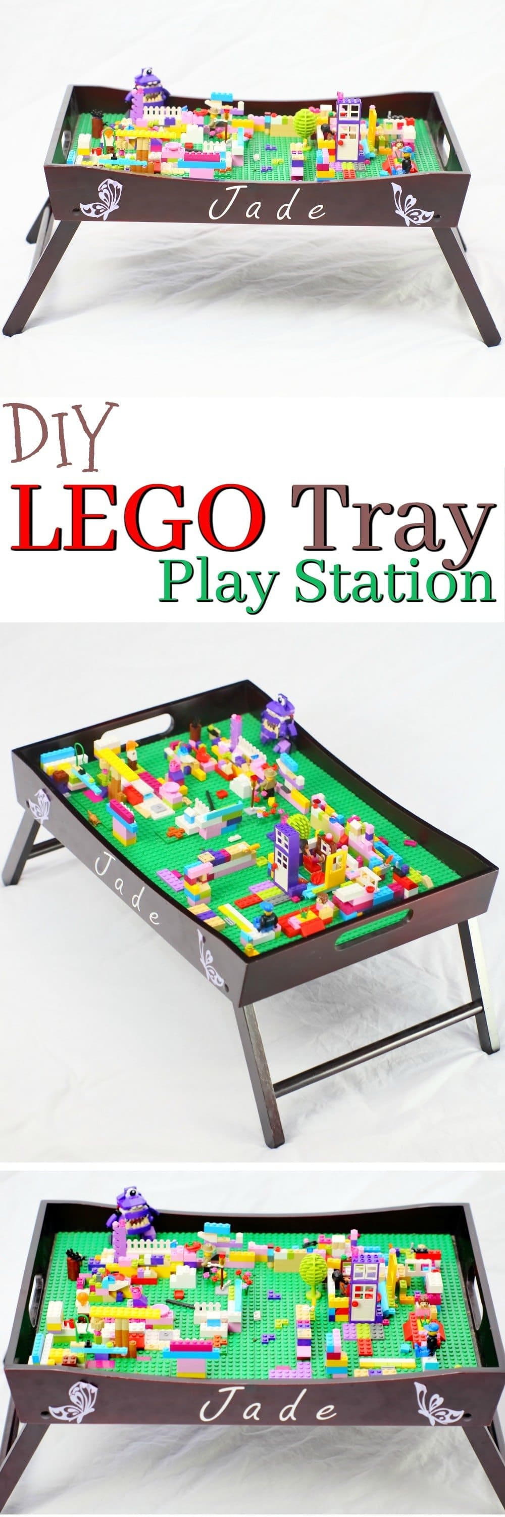 This LEGO Tray Play station is such a simple project even the most Novice crafter can create it! The Lego Tray play station is an excellent gift for LEGO lovers, and something you can easily create at home in a single afternoon.