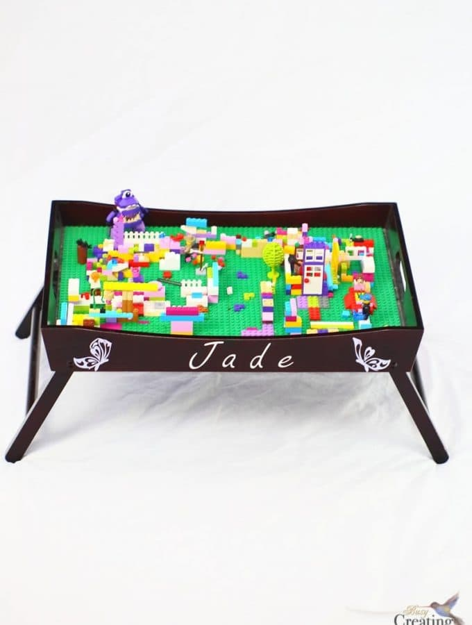 Easy Portable DIY Lego Tray Table