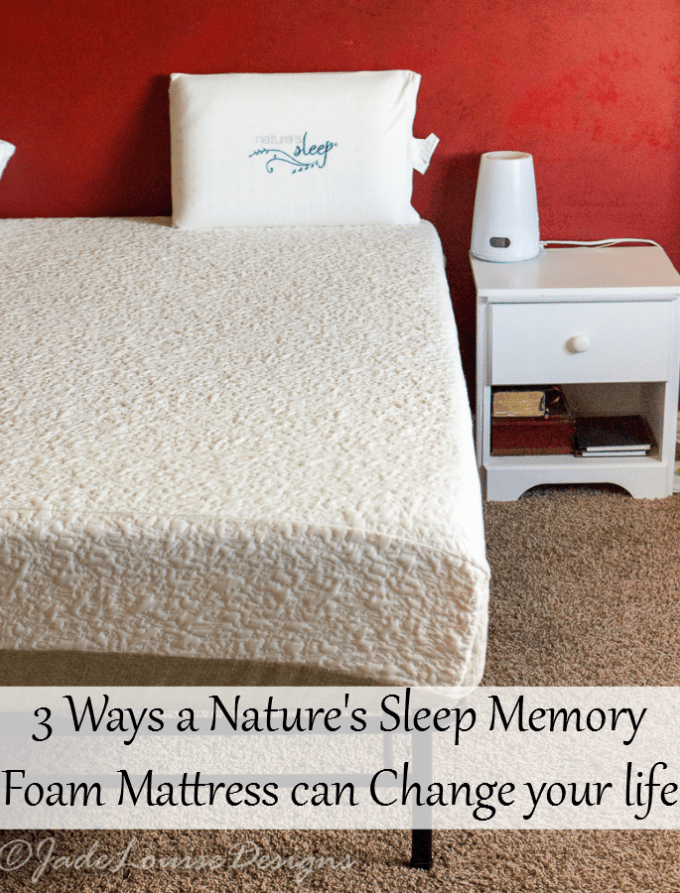3 ways Nature's Sleep Glacier Gel Memory Foam Mattress has Changed my life