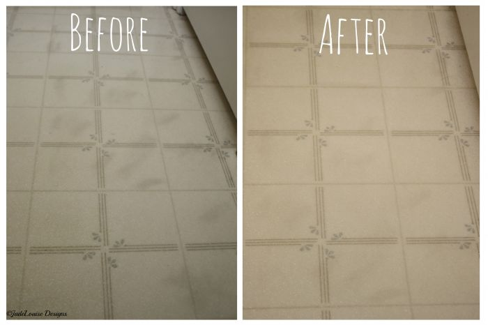 Before and After Steam Mop