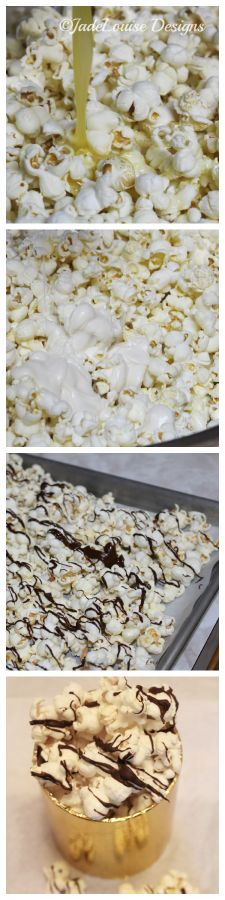 White Chocolate Chocolate Popcorn How-to