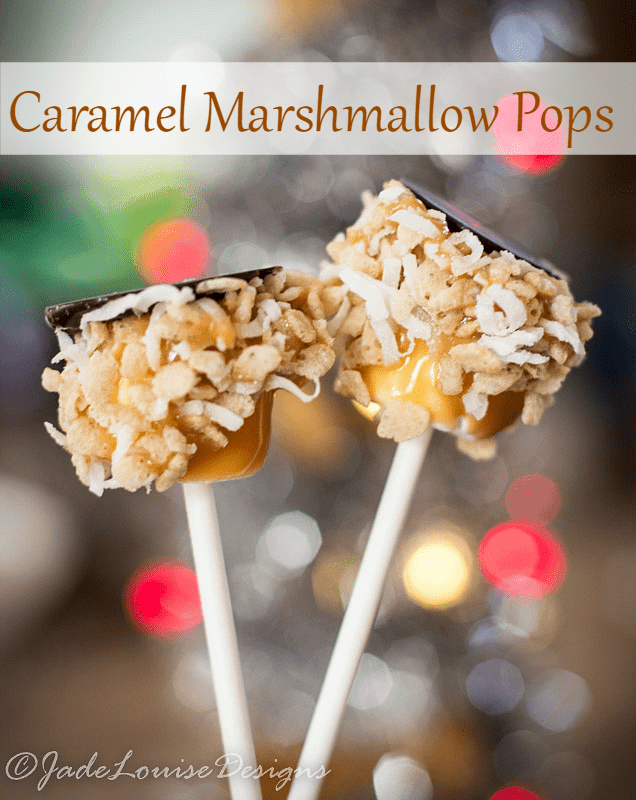 Caramel Marshmallow pops, a favorite holiday tradition.