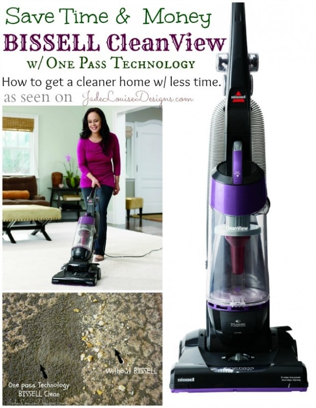 Cleaning tips; Save Time Vacuuming with BISSELL CleanView Vacuum with One Pass Technology