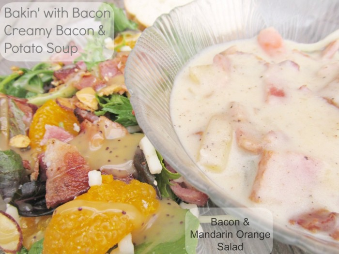 Baking with Bacon Creamy Bacon and Potato Soup Recipe #MealsTogether #CBias