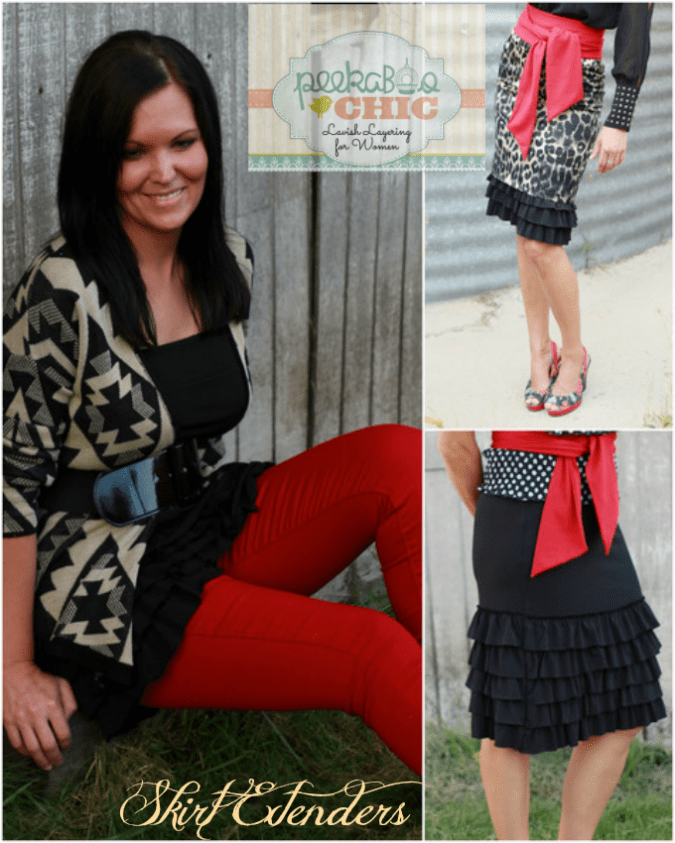 Skirt Extenders from Peekaboo Chic broadens Fashion with lavish layering apparel.