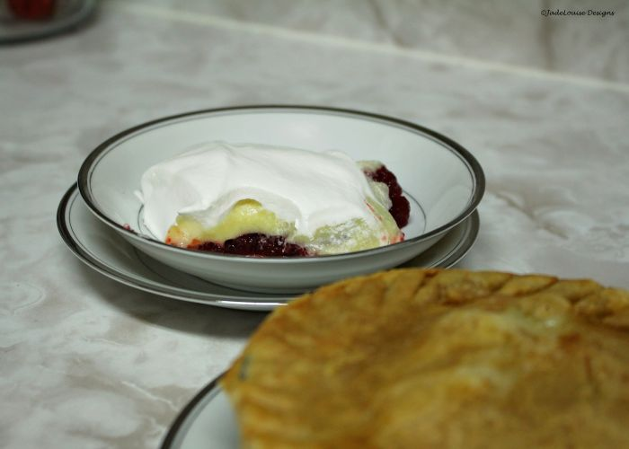 Cranberry Jello Salad and Turkey Pot Pie
