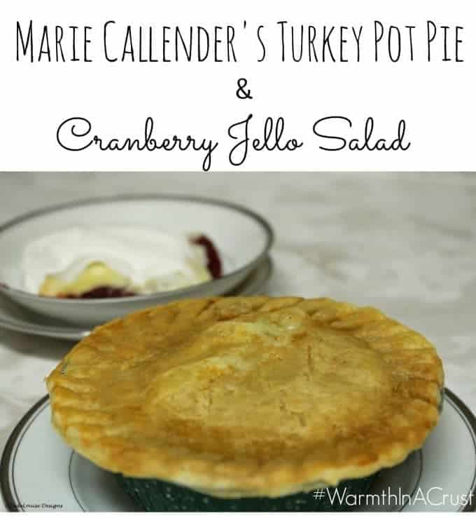 Cranberry Jello Salad is a perfect pair with Marie Callender's Pot Pies #WarmthInACrust