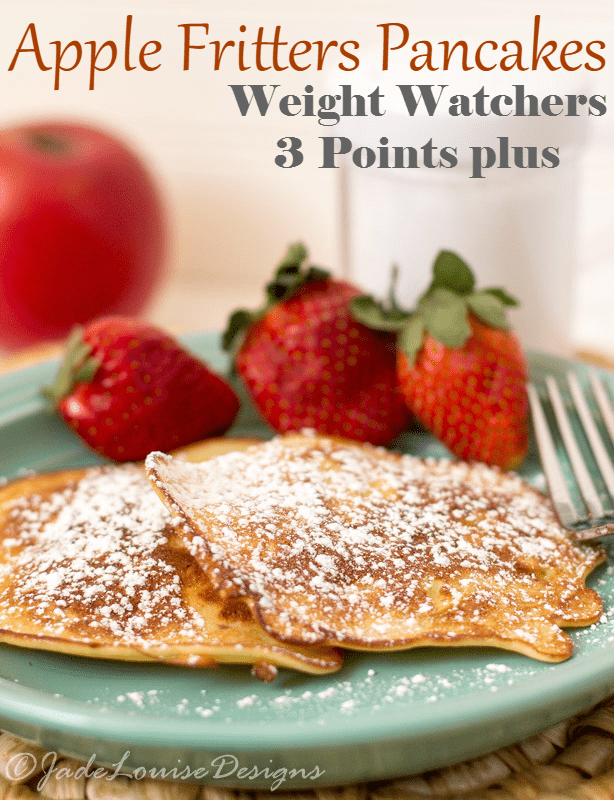 Apple Fritters Pancake Recipe Weight Watchers 3 Points Plus #WeightWatchers