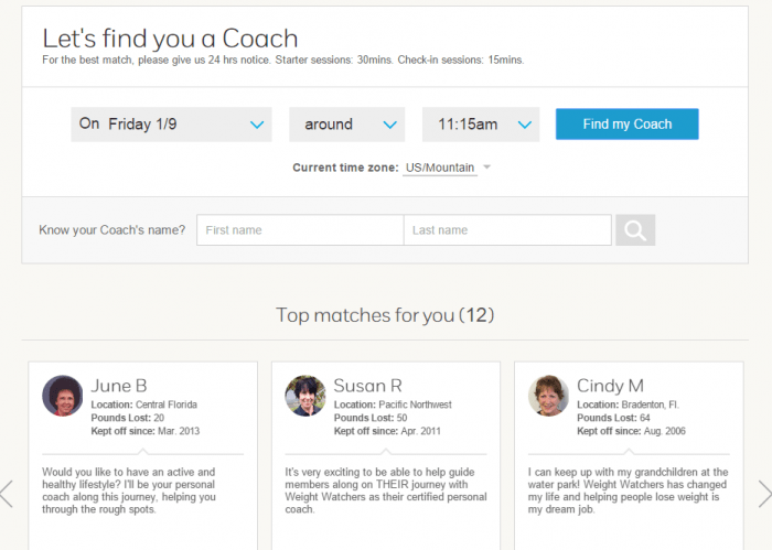 Get Personal Coaching With Weight Watchers