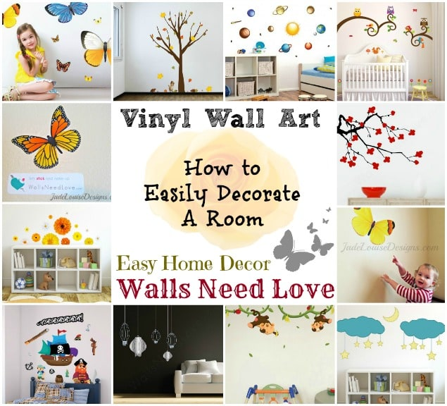 How to Easily Decorate a Room with Reusable Vinyl Wall Art ...