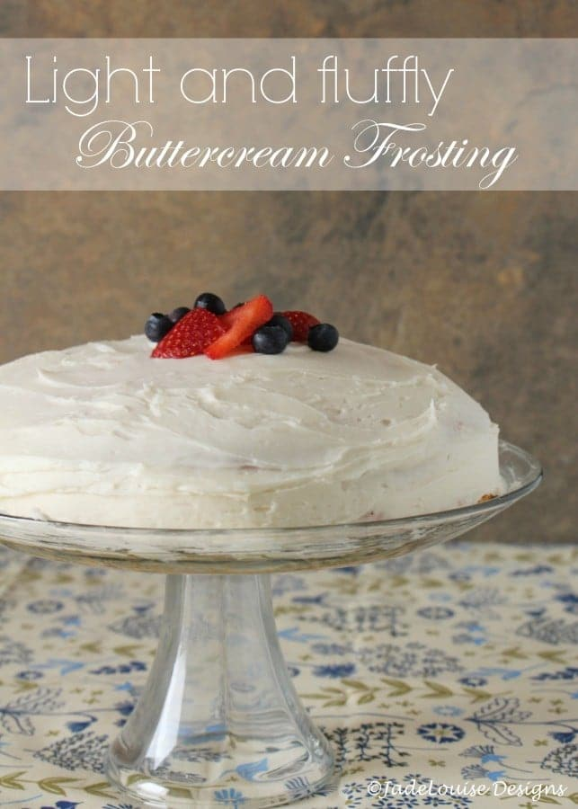How to make buttercream frosting light and fluffy