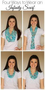 Four Ways to Wear an Infinity Scarf
