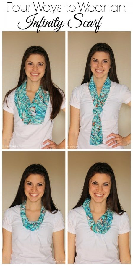 Four Ways to Wear an Infinity Scarf