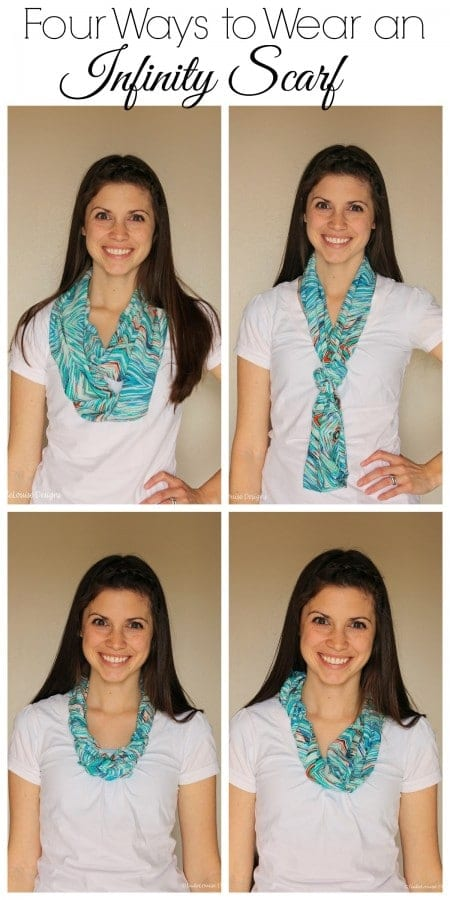 Four ways to wear an infinity scarf!