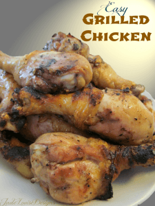Easy Grilled Chicken Recipe with simple Apple Cider Vinegar Marinade