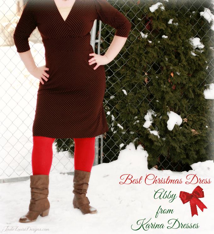 Showcasing a New Christmas Dress; Abby 3/4 Sleeve Karina Dresses #Dresstacular