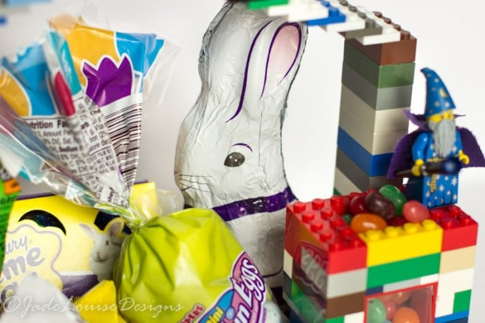 DIY LEGO Easter Basket Idea #HersheysEaster