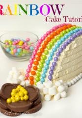 Rainbow Cake Tutorial plus Sweetworks Cake My Day