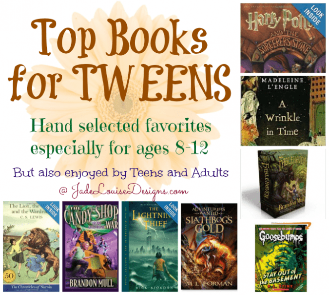 Top books for Tweens ages 8-12 to encourage a love of reading