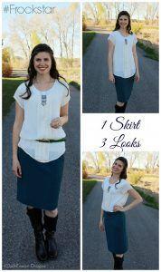 One skirt, three looks! #Frockstar