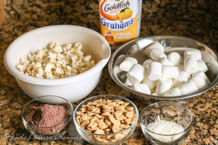 S'mores Popcorn Balls Recipe with Goldfish Grahams!