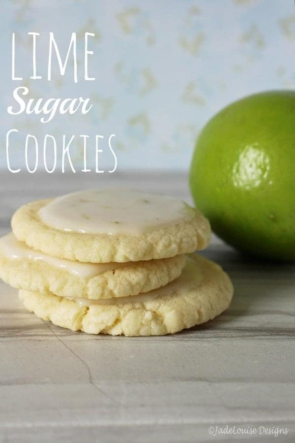 Lime cookies - sweet and fluffly sugar cookies, topped with a tangy frosting.
