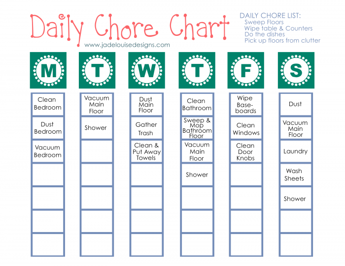 cleaning tips to reduce allergies   printable chore chart