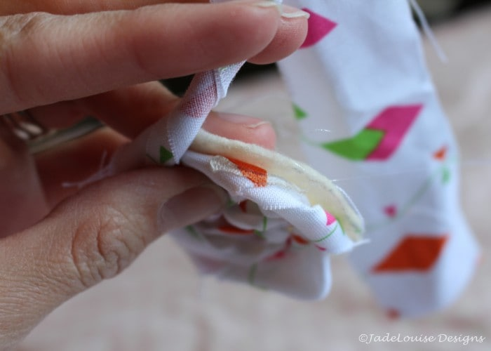 Glue onto the fabric