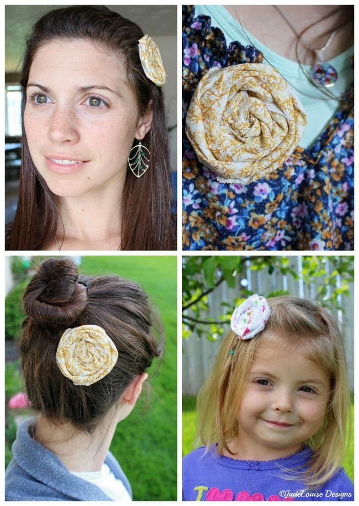 How to wear a fabric flower