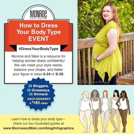 How to Dress for your Body Type to Dress your best! Monroe and Main  #DressYourBodyType