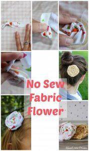 No Sew Flower Tutorial