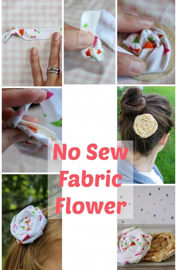 No Sew Flower Tutorial