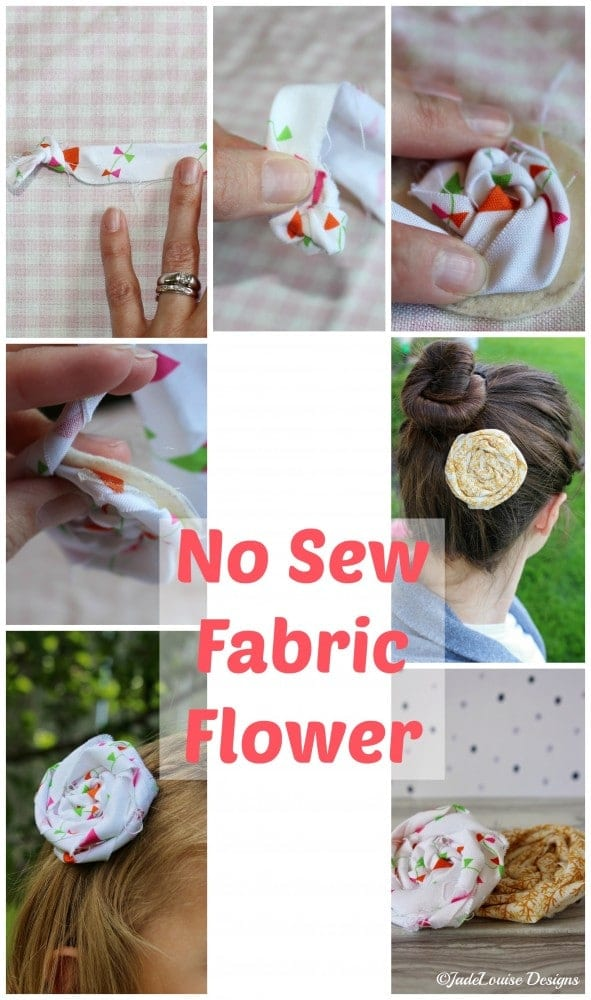 No Sew Fabric Flower