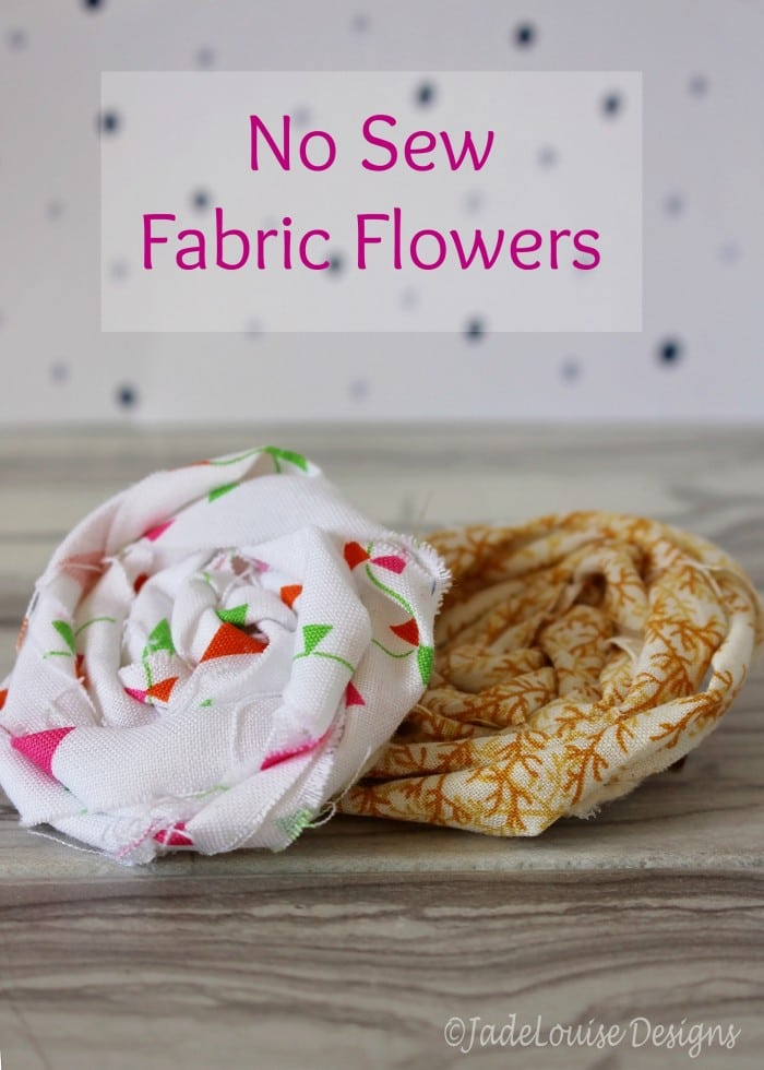 No sew fabric flower tutorial