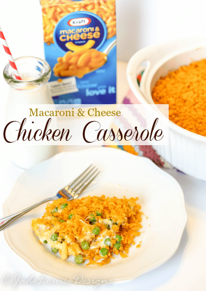 KRAFT Macaroni & Cheese Chicken Casserole #Youknowyouloveit