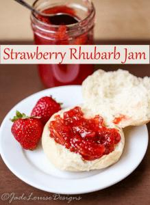 Low Sugar Strawberry Rhubarb Jam Recipe