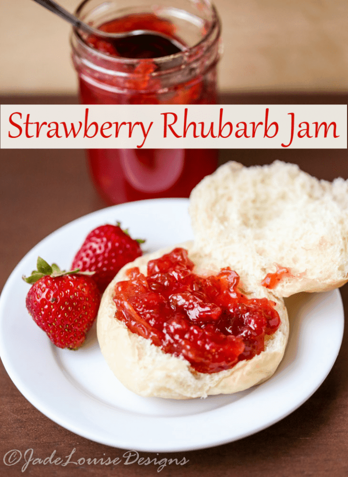 Low Sugar Strawberry Rhubarb Jam Recipe