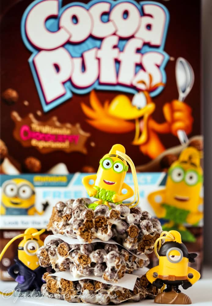 Minion Cocoa Puffs Marshmallow Treats plus Free Toy Inside!