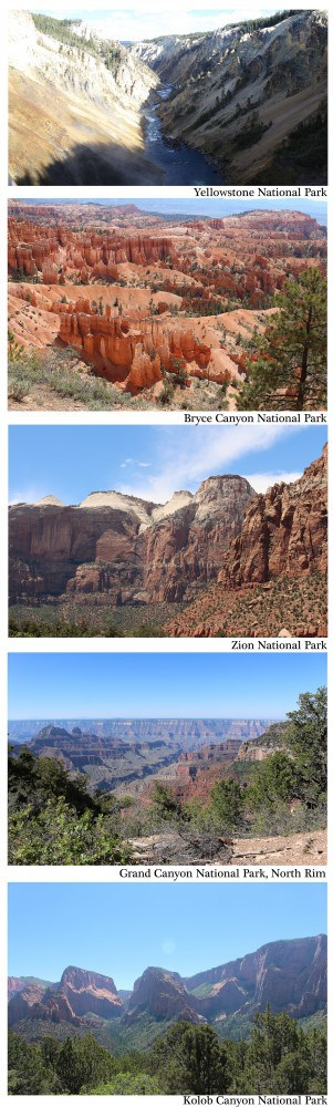National Parks with names