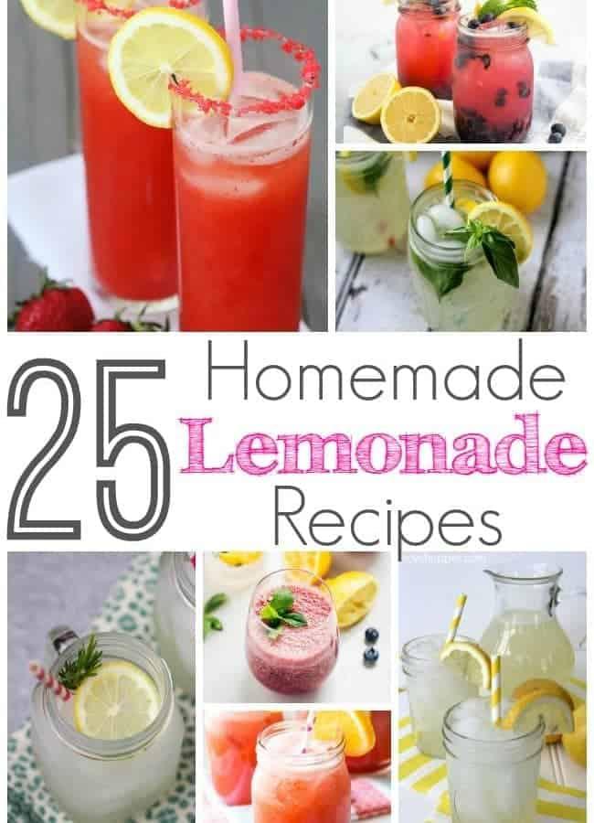 25 Delicious Lemonade Recipes