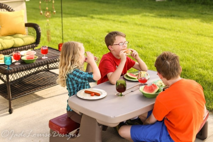 How to host a backyard bbq with pier 1 imports - Designing barbecue spot outdoor sanctuary ...