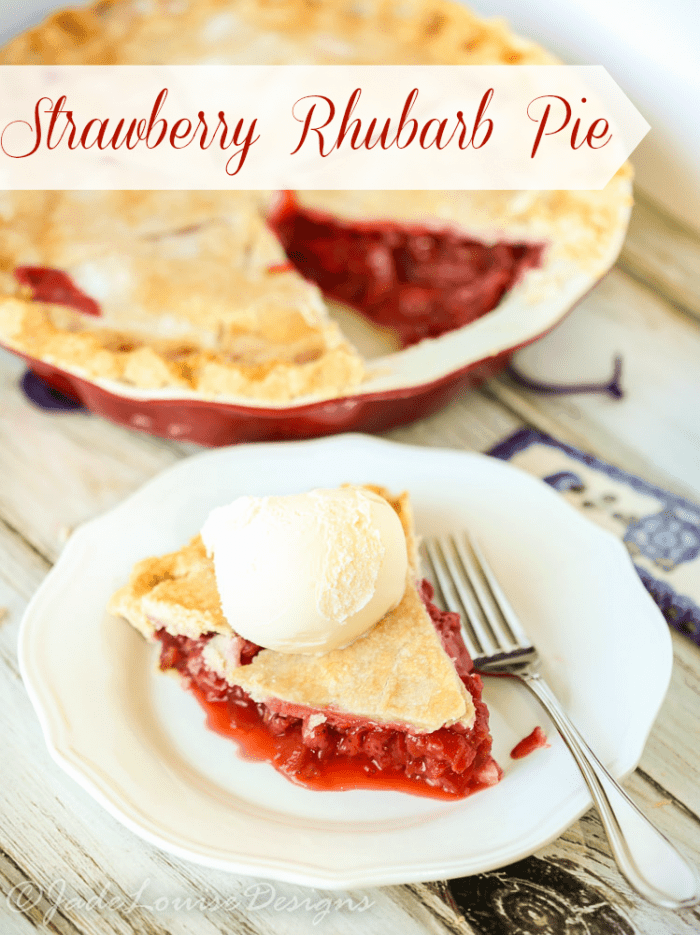இBest Ever Strawberry © Rhubarb Rhubarb Pie Recipe - ga2