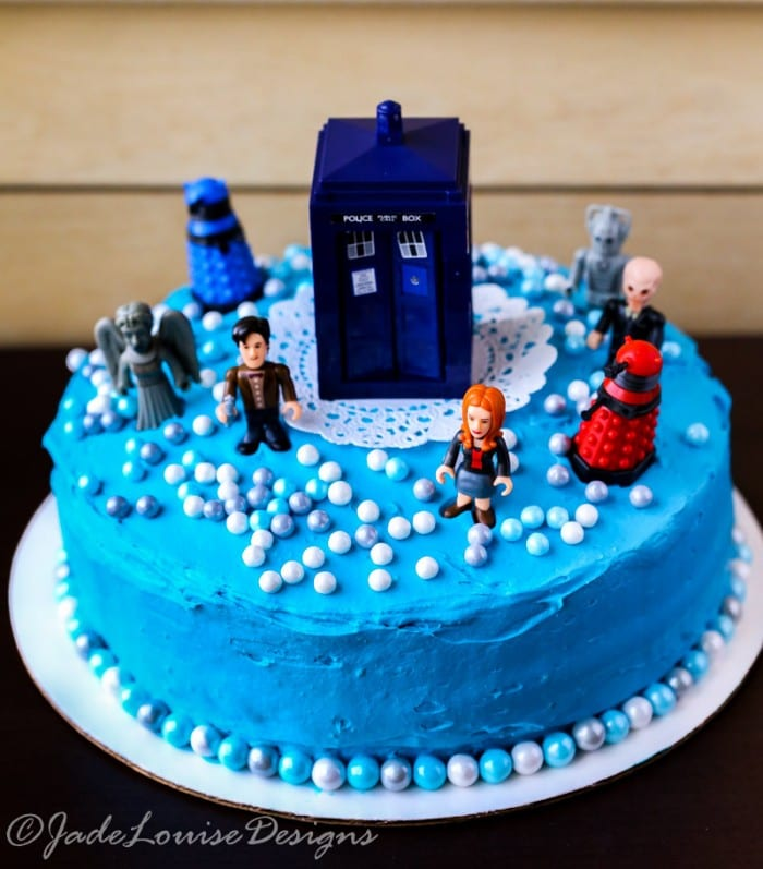 Doctor who cake tutorial perfect birthday cake idea for Tardis template for cake