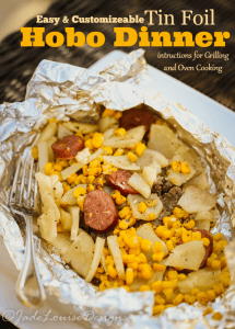Easy Hobo Dinner, Tin Foil Dinner perfect for the whole family.