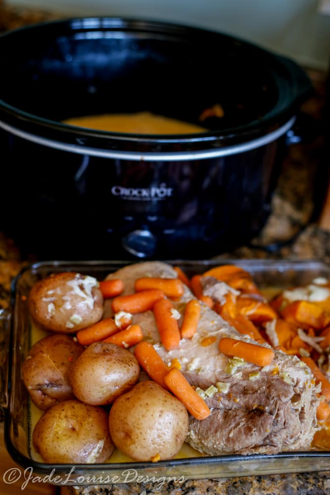 Easy Crock Pot Pork Roast Dinner with only 5 ingredients!