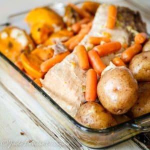 Easy Crock Pot Pork Roast Dinner with only 5 ingredients!
