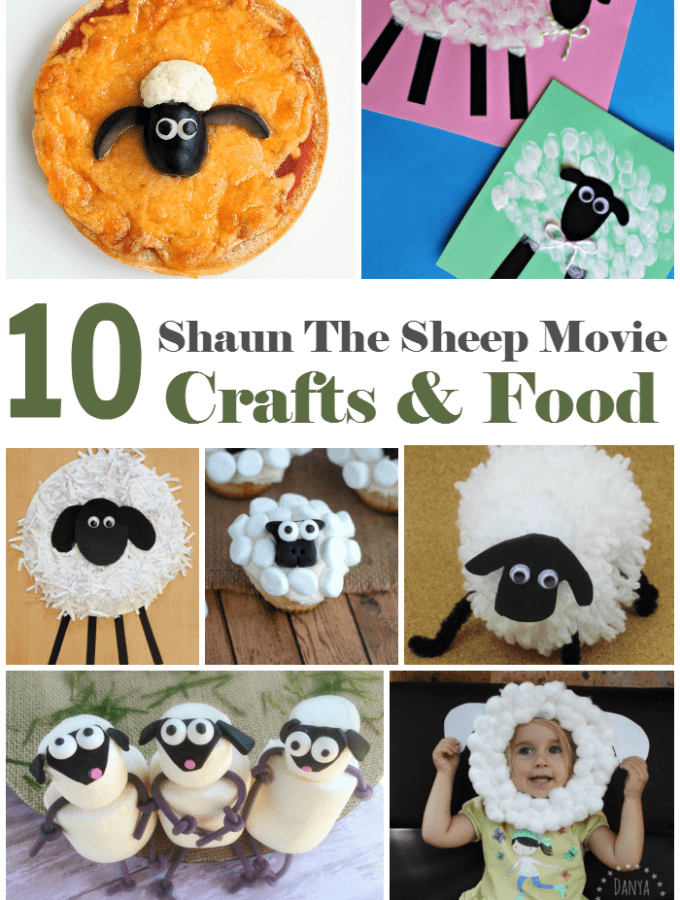 10 Shaun the Sheep Movie Crafts for kids